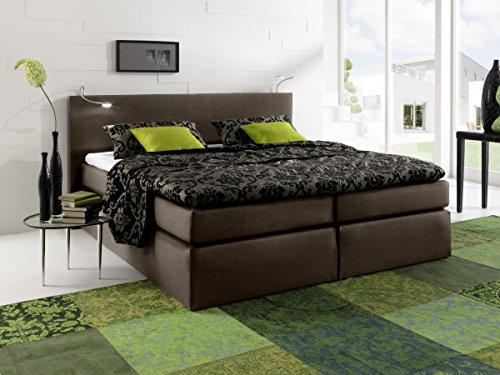 moebel-eins Savanna Boxspringbett Hotelbett Bett amerikanisches Bett Federkernmatratze 160 x 200 cm Härtegrad 2 braun, 160 x 200 cm, braun