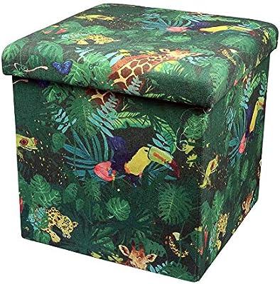 Capventure Ottoman Foldable Storage Tropical, Nylon/A