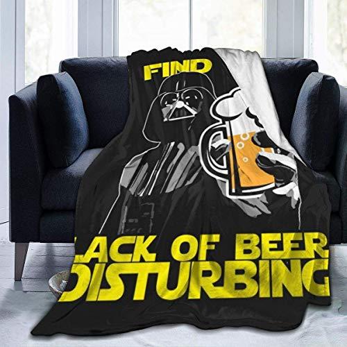 N/A Da-Rth V-Ader I Find Your Lack of Beer Manta Perturbadora De Franela para Hombres Y Mujeres Mantas Ligeras De Sherpa para Sofá Sillón Hogar Oficina Coche Sala De Estar L