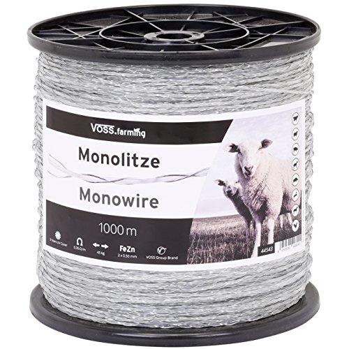 Monolitze Polydraht transparent – Länge wählbar - für Weidezaun Litze Elektrozaun – besonders geeignet für Lange und schwierige Einzäunungen – für Schaf Rind und Ziege