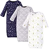 Hudson Baby Baby Cotton Gowns, Navy Stars & Moon, 0-6 Months