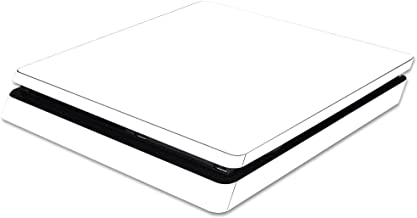 MightySkins Skin Compatible with Sony PS4 Slim Console - Solid White | Protective, Durable, and Unique Vinyl Decal wrap Cover | Easy to Apply, Remove, and Change Styles | Made in The USA