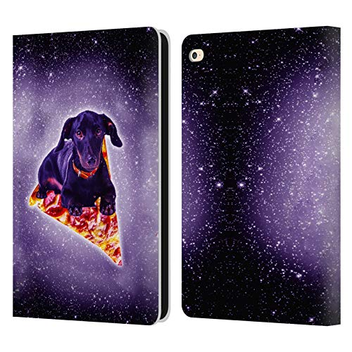 Head Case Designs Officially Licensed James Booker Purple Galaxy Black Dog Space Pizza Ride Leather Book Wallet Case Cover Compatible with Apple iPad Air 2 (2014)
