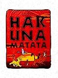 Disney The Lion King Hakuna Matata Plush Throw Blanket