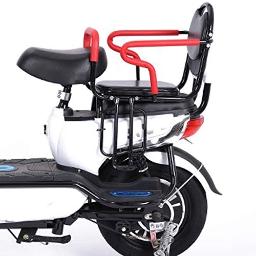 Asiento de Bicicleta para niños clásico Seguro montado en la Parte Trasera, con reposabrazos, Pedales, cinturón de Seguridad, para niños de 2 a 8 años (Color : Electric Wide Rear Seat)