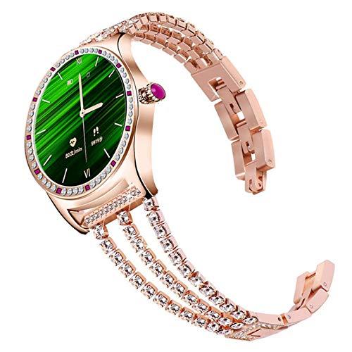 HQPCAHL Smartwatch Mujer Reloj Inteligente Impermeable Monitor De Sueño Y Caloría Pulsómetro Modos Deportes Notificaciones Inteligentes Reloj Deportivo Mujer para Android iOS,A