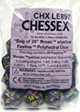 Chessex Dice: Festive Mosaic Yellow Bag of Dice (20) CHX LE897