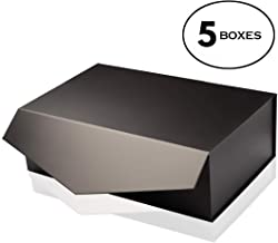 [Yeden] Large Gift Box   5 Luxury Boxes   Collapsible Magnetic Closure   Durable Storage Box (14