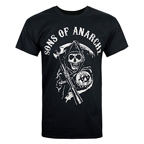 Sons of Anarchy Main Logo T Shirt (Schwarz) - X-Large