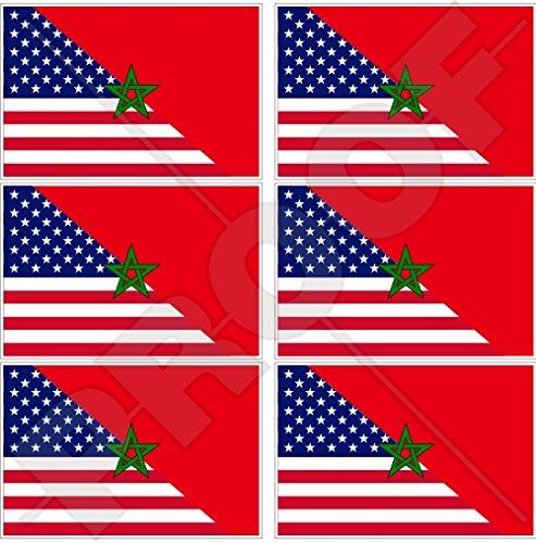 USA Verenigde Staten van Amerika & MOROCCO Maroc, Amerikaans-Marokkaanse vlag 40mm (1,6