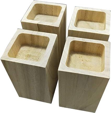 hxz coussin rehausseur de meubles en bois massif x4 pieds rehausseurs pieds de table pieds de lit canape antiderapant resistant a l usure