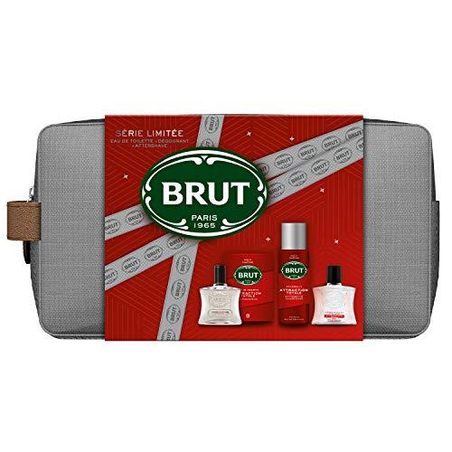 BRUT Coffret Trousse Eau de toilette + Déodorant + After Shave ATTRACTION TOTALE