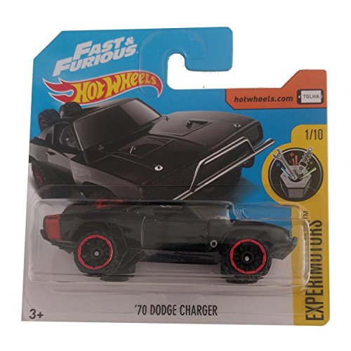 Hot Wheels \'70 Dodge Charger Fast & Furious - Experimotors 4/365 - Black (short card)