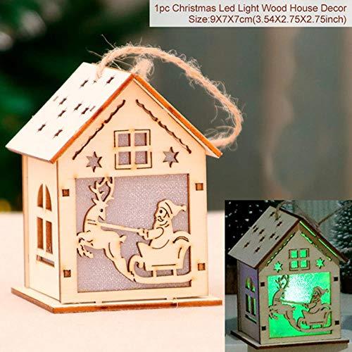 Haosha Sneeuwpop, kerstboom, led-slinger, lichtsnoer, familie, kerstboomversiering, nieuwjaar, hanger en hanger