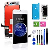 for iPhone 8 Plus Screen Replacement White 5.5 Inch, Diykitpl 3D Touch LCD Digitizer Display for iPhone 8 Plus, with Repair Tools Kit for A1864,A1897,A1898 Glass Screen
