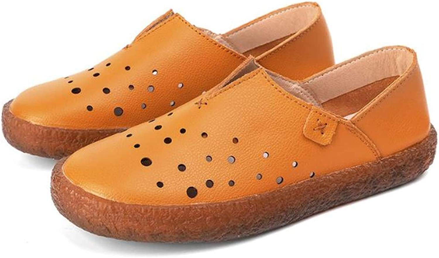 MOREMOO Women's Breathable Soft Leather Loafers Comfort Flats Driving shoes Indoor Outdoors Slip-on