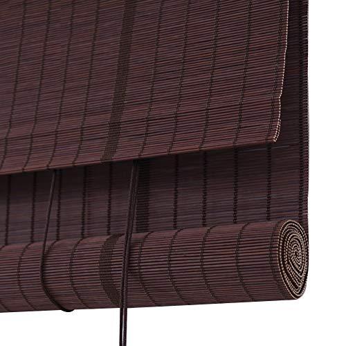 JIANFEI-Bamboe Blinde Romeinse tinten Venetiaanse jaloezieën deur gordijn Liftable Roller Blind, 24 Maten,3 Kleuren Ondersteuning maatwerk