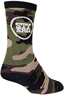SockGuy Crew 6in Stay Strong Camo Cycling/Running Socks