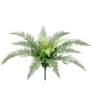 Silk Plants Direct Leather Fern Bush (Pack of 12)