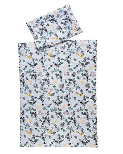 Schardt 13 501 1/785 Jungle Parure de lit 2 pièces avec taie d'oreiller 40 x 60 cm et housse de couette 100 x 135 cm Beige 700 g