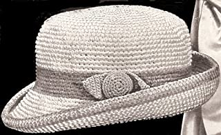 Vintage Crochet PATTERN to make - Little Boy's Fedora Sport Hat 1916 Antique Pattern Size 2. NOT a finished item. This is a pattern and/or instructions to make the item only.