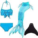 shepretty Queues de Sirène Mermaid Bikini Maillots de Bain Costume Cosplay pour Filles,DH53,140