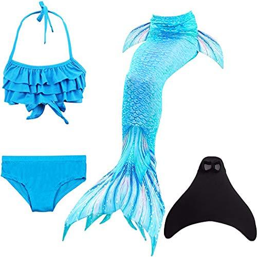 shepretty meerjungfrauenflosse mädchen Meerjungfrauenschwanz Zum Schwimmen mit Meerjungfrau Flosse Kinder,DH53-130