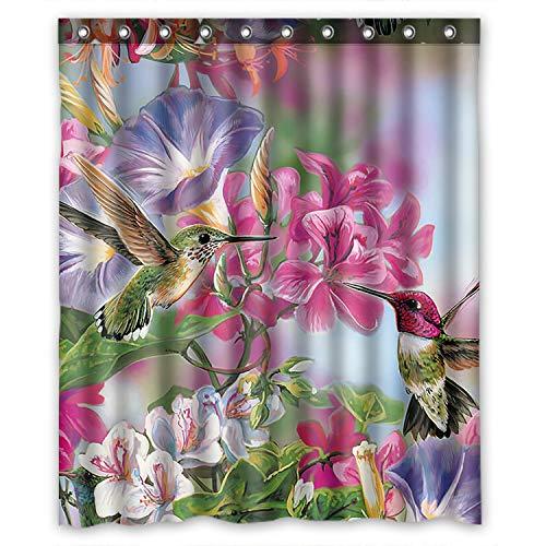 KXMDXA Funny Novelty Hummingbird Waterproof Polyester Bath Shower Curtain Size 60x72 Inch