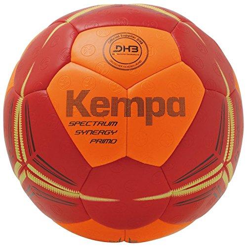 Kempa Spectrum Synergy Primo Handbälle, Fluo orange/deep rot, 3