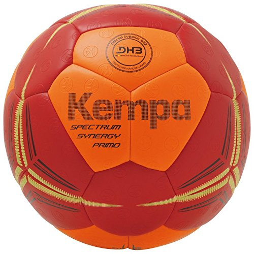 Kempa Spectrum Synergy Primo Ball Handball, Fluo orange/deep rot, 3