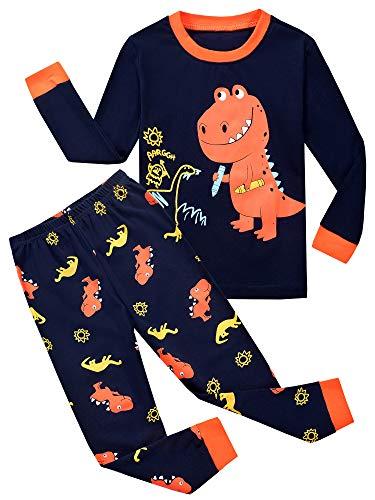 Garsumiss Jungen Schlafanzug Kinder Dinosaurier Pyjamas Sets Kleinkind Pjs Nachtwäsche 2-8 Jahre (7 Jahre, Pattern1)