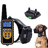 Hmpet Dispositivo de adiestramiento para Perros, Collar de adiestramiento para Perros Collar Vibrante Impermeable Vibración Fuerte Choque Control Remoto Vibración Modo de pitido Collares para Perros