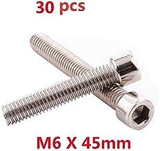 Do4U M6 x 45MM Socket Head Cap Screws, Allen Socket Drive, Din 912, Stainless Steel 304, Full Thread, Bright Finish, Machine Thread (M6x45,30pcs, Silver)