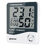 Mospro(モスプロ) デジタル 目覚まし時計 大音量 卓上 デジタル時計 カレンダー・温度計機能搭載 スタンド付き 自動点灯モード搭載 ホワイト