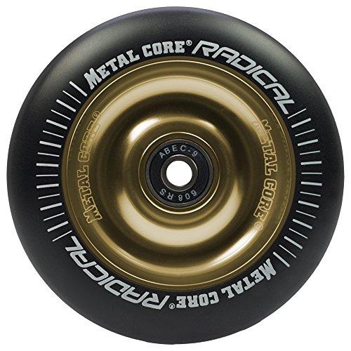 Metal Core Radical Ruedas Scooter, Negro/Dorado, Única