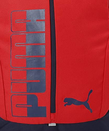 PUMA Laptop Backpack IND III Red-Peacoat & Puma Packable Rain Cover Vibrant Orange