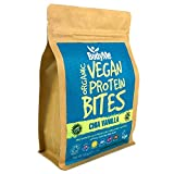 BodyMe Organic Vegan Protein Bites | Raw Chia Vanilla | 500g (12.5 x 40g Servings) | With 3 Plant Proteins by BodyMe