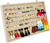 Mebbay 7 Slots Hanging Ring Earring Holder Organizer Jewelry Organizer Wall Mounted Stud Earring Display Tray Organizer Jewelry Storage Tray for Drawer