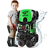 Ruko C11 Amphibious RC Cars 1:10 Scale Large Monster Truck, 2.4 GHz Waterproof Remote Control Car, 4WD Off Road Vehicle with 2 Rechargeable Batteries for 40 Mins Play, Gift for Adults and Kids (Green)