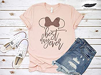 Minnie Mouse Best Day Ever T-Shirt Funny Cute Matching Disney Shirts for Ladies Girls Summer Tanks