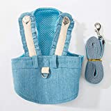 DULING Abbigliamento per cani, cintura pettorale in jeans, adatto per: passeggiate per cani di piccola e media taglia, blu (fodera in rete traspirante), S.