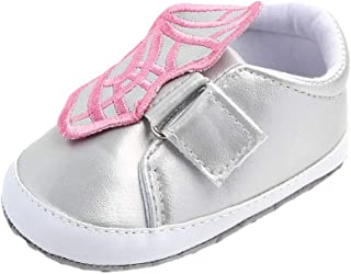 Weixinbuy Toddler Baby Girls Butterfly Non-Slip Soft Sole Casual Sneaker Crib Shoes