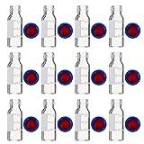 Scicalife 100 Unidades de 2Ml de Vidrio Líquido de Centelleo Viales de Autosampler de Color Claro con Graduación Y Tapa Azul