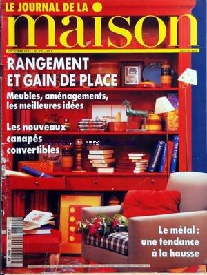 JOURNAL DE LA MAISON (LE) [No 291] du 01/10/1995 - RANGEMENT ET GAIN DE PLACE - LES NOUVEAUX CANAPES CONVERTIBLES - LE METAL