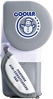 DAILY Dailyinshop Mini Enfriador de Aire Acondicionado de Mano Ventilador sin Cuchilla de Carga USB Ventilador de enfriamiento portátil de Verano para Viajes al Aire Libre en el hogar