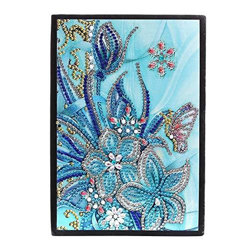 𝐑𝐞𝐠𝐚𝐥𝐨 𝐝𝐞 𝐍𝐚𝒗𝐢𝐝𝐚𝐝 Cuaderno de pintura de diamantes, regalo artesanal de diamantes en forma especial 8.3 x 5.9in Cuaderno de diamantes DIY, amigos para la familia