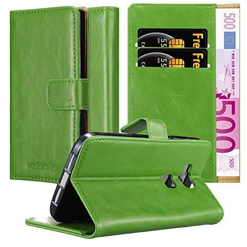 Cadorabo Hülle für Huawei G7 Plus / G8 / GX8 - Hülle in Gras GRÜN – Handyhülle im Luxury Design mit Kartenfach & Standfunktion - Case Cover Schutzhülle Etui Tasche Book