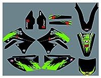 Fyjhunann DST0866カスタマイズされた3MオートバイデカールステッカーグラフィックグラフィックデカールキットKawasaki KXF250 2009-2012 hnfyj