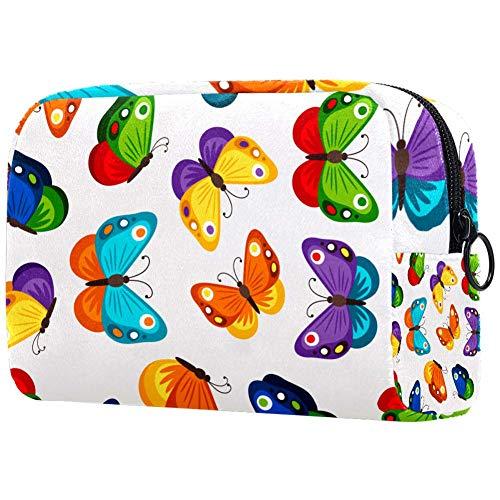 Trousse de maquillage portable pour enfants avec motif papillon