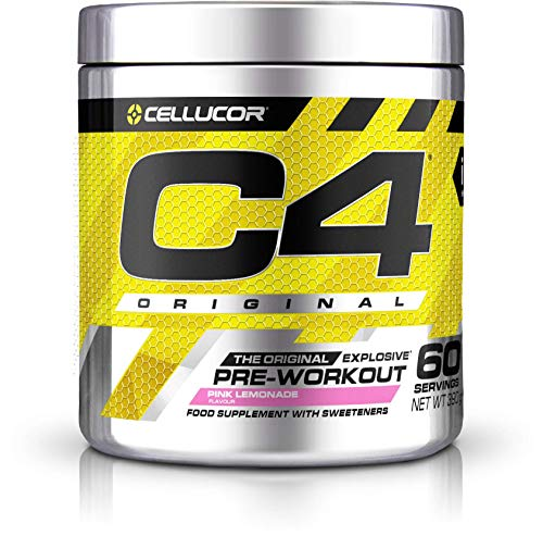 Pre-workout Powder C4 Original Pink Lemonade | Sugar Free Pre-workout Energy Drink Supplement for Men & Women | 150 mg Cafeïne + Bèta-alanine + Creatine-monohydraat | 60 Doseringen